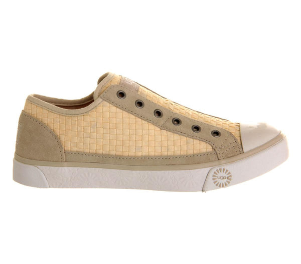 Womens UGG Laela Woven Sneaker Cream Denim