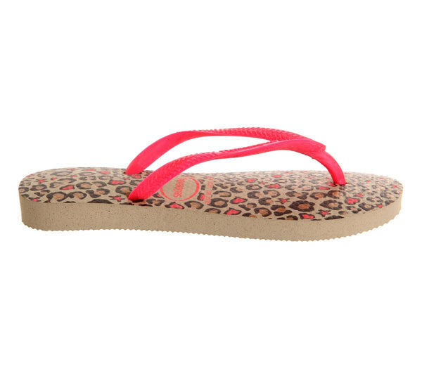 Kids Havaianas Slim Fashion Kids Leopard Hot Pink