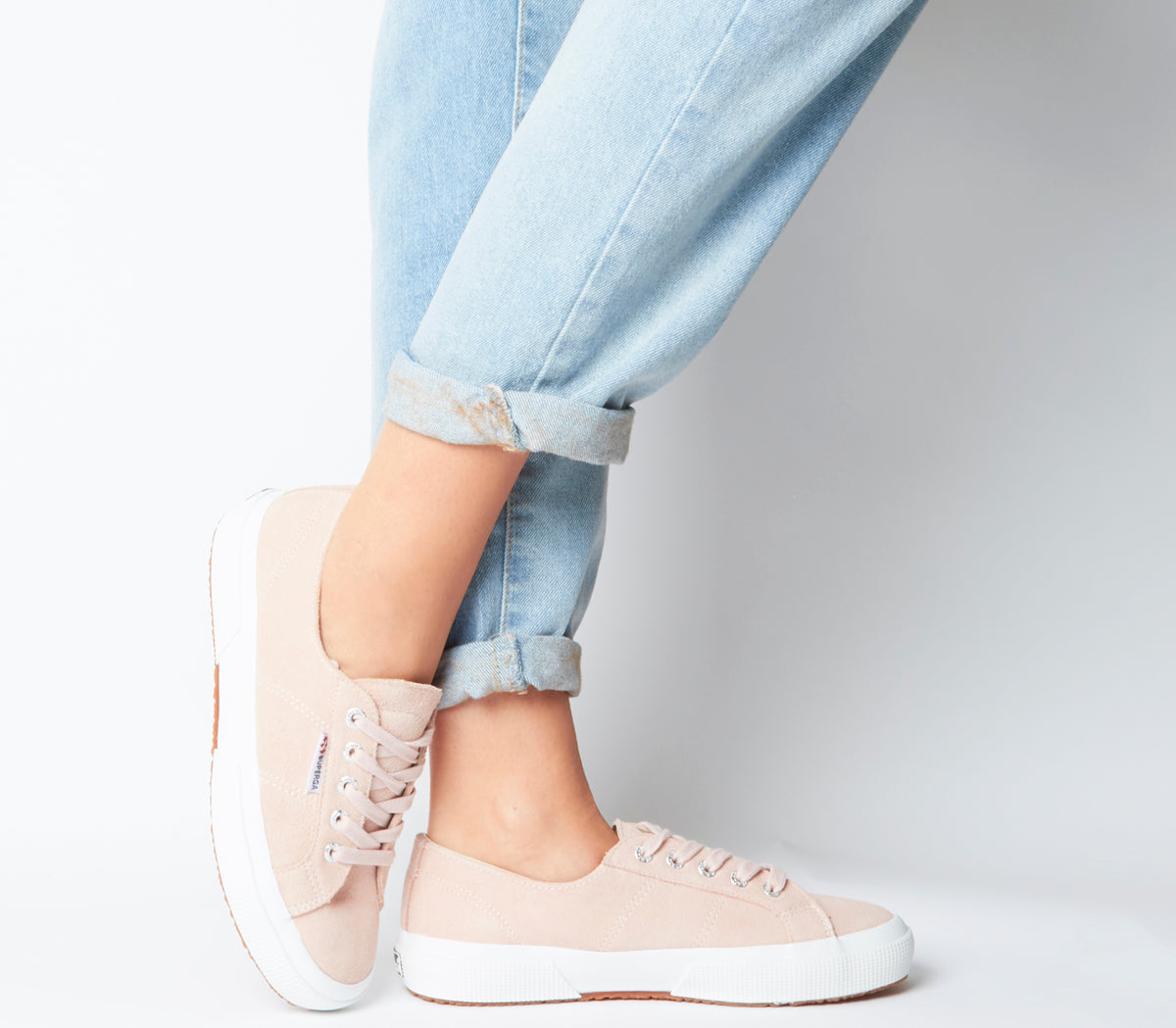 Womens Superga 2750 Trainers Pink Skin Suede