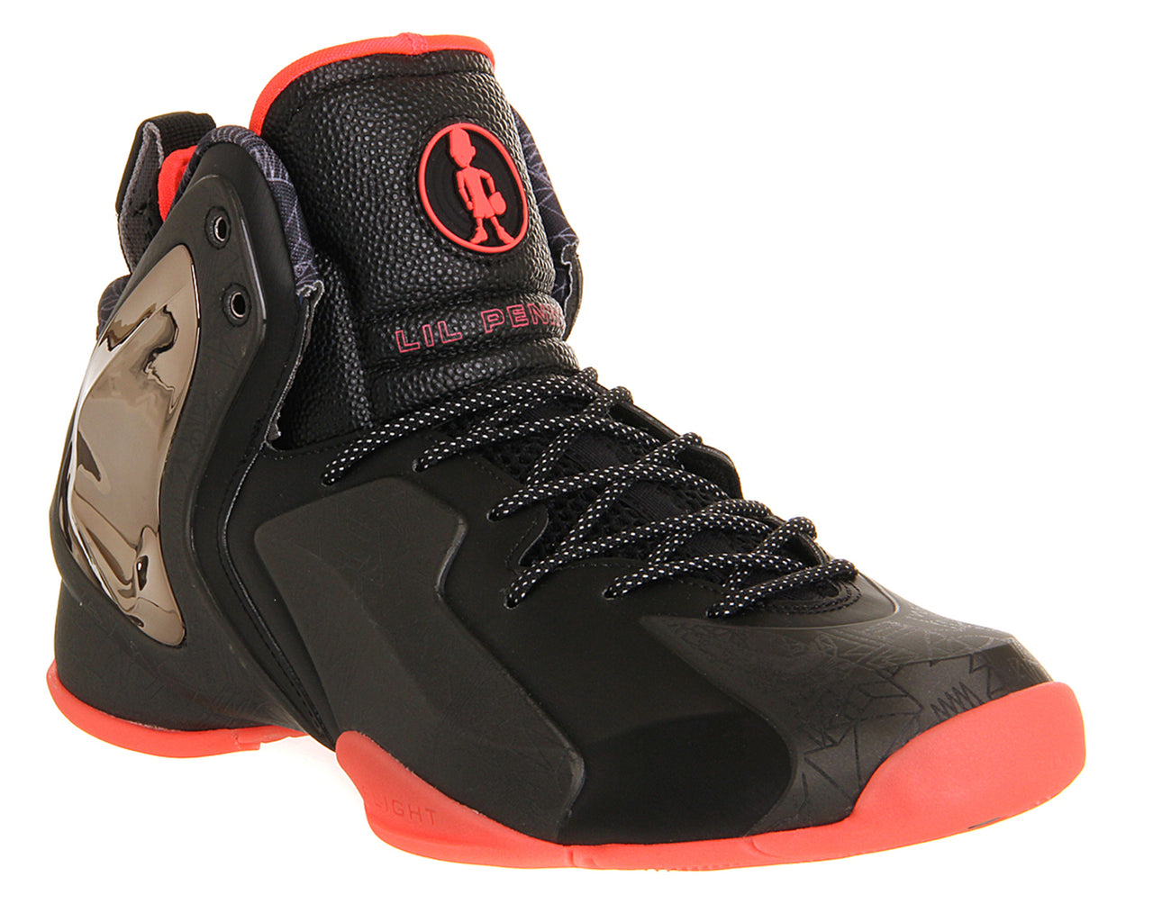 Mens Nike Little Penny Posite Black Atomic Red Qs Trainers