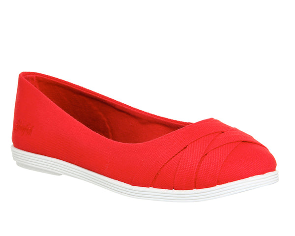 Womens Blowfish Glo Pump Red Canvas