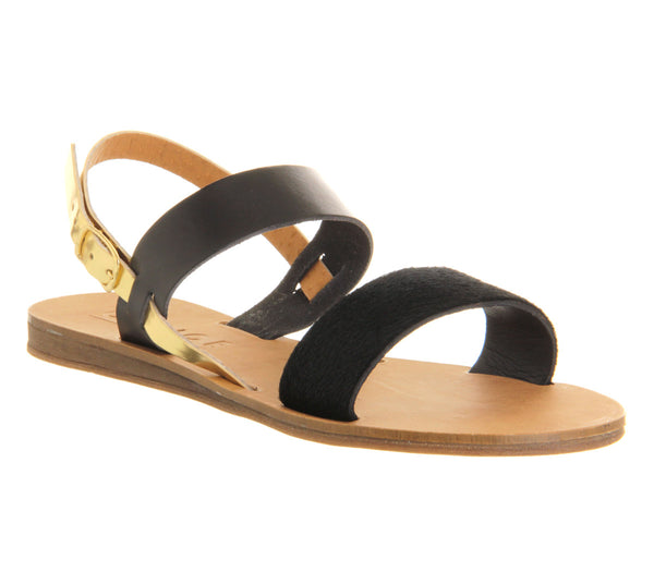 Womens Office Honey Sling Back Sandal Black Pony