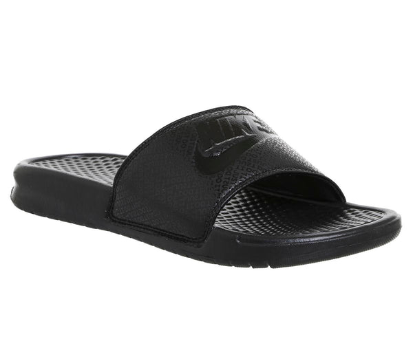 Odd sizes - Mens Nike Benassi Slide Black Black Black Sizes R8/L9