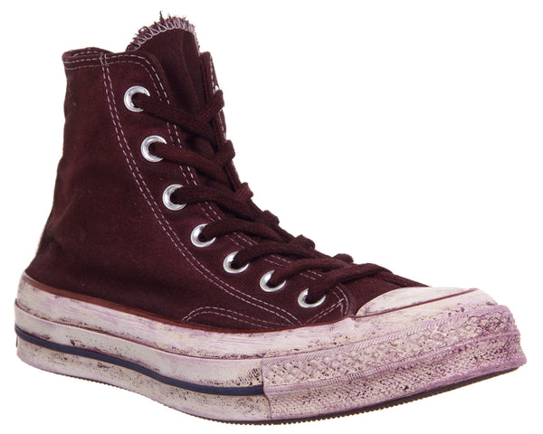 Unisex Converse All Star Hi 70s Trainers Berry Dyed Worn Look