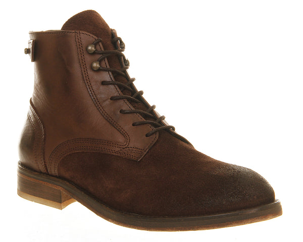 Mens H by Hudson Fleetham Boot Brown Suede Mutli