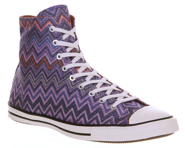Womens Converse Ctas Fancy Hi Missoni Hollyhock Auburn Trainers Size 3.5