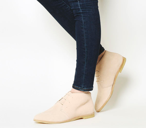 Womens Clarks Originals Phenia Desert Boots Light Pink Suede