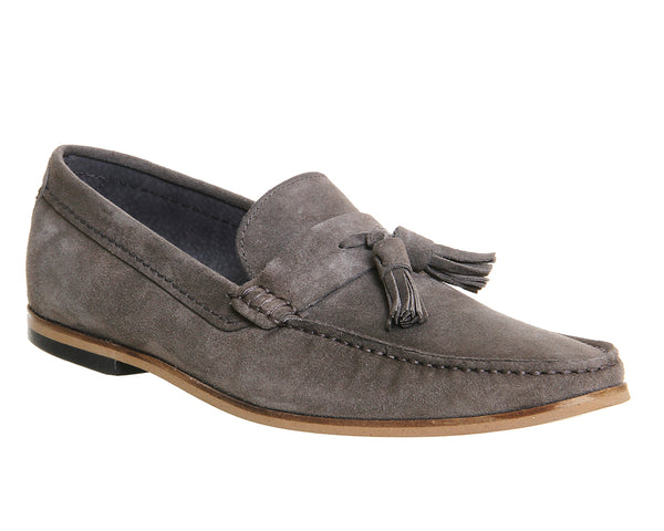 Mens Office Approval Loafer Grey Suede Uk Size 8