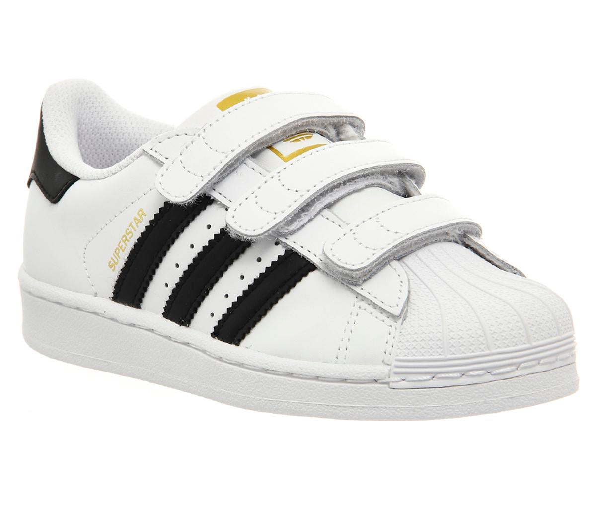 Kids Adidas Superstar Kids 102 White Black White