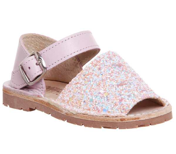 Kids Solillas Bebe 510 Pink Glitter Uk Size 7 Infant