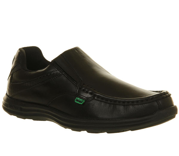 Mens Kickers Reason Slip Black Leather