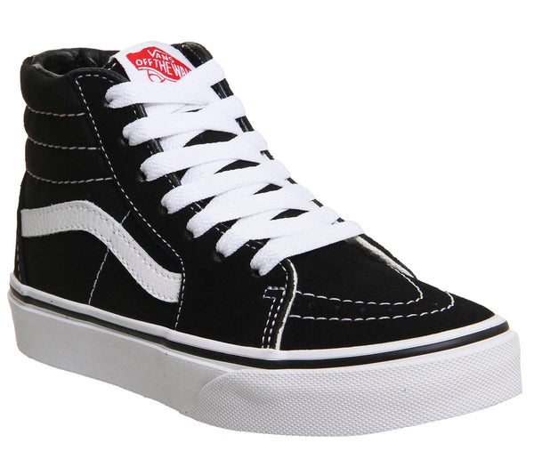 Kids Vans Sk8 Hi Kids Black White