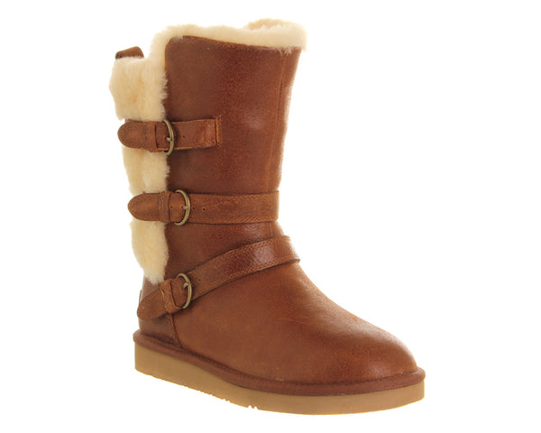 Womens Ugg Becket Buckle Boot Chestnut Leather Uk Size 3.5