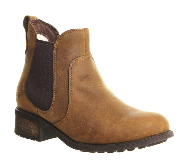 Womens Ugg Bonham Chelsea Boot Chestnut Leather Ankle Boots UK Size 3.5