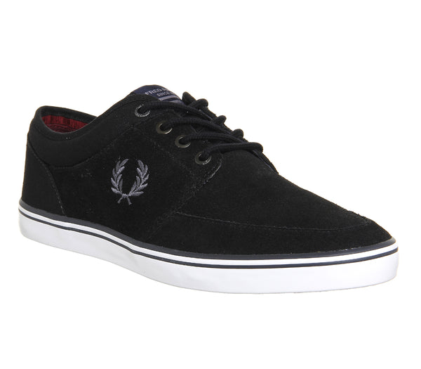 Mens Fred Perry Stratford Black Charcoal Trainers Size 8