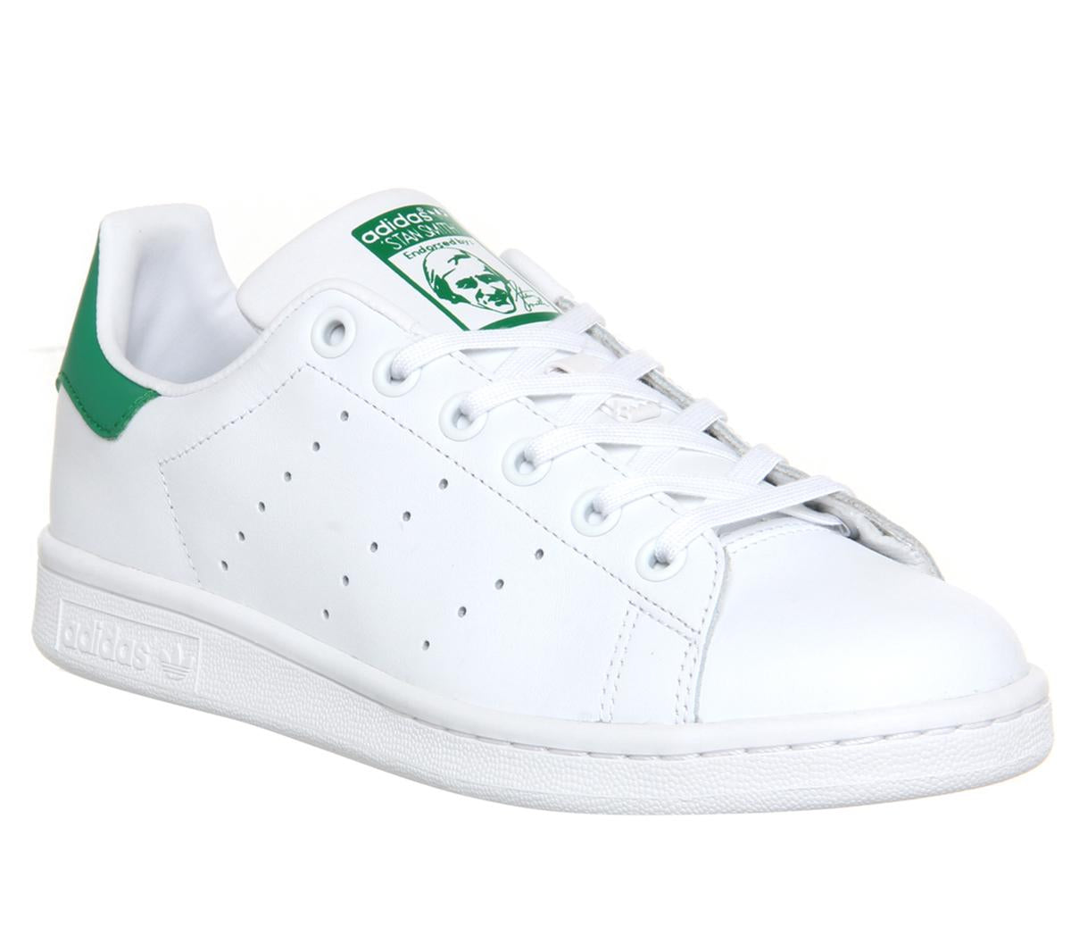 buy online 66bc6 b888f Womens Adidas Stan Smith Gs Core White Green Uk Size 3