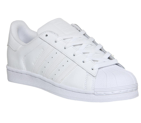 Womens Adidas Superstar Gs White Mono Foundation Uk Size 5
