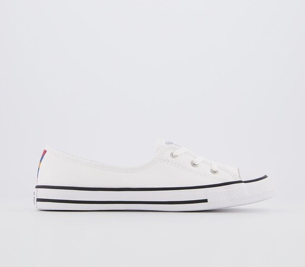 Odd sizes - Womens Converse Ctas Ballet Lace White Multi Black Exclusive UK Sizes R5/L4