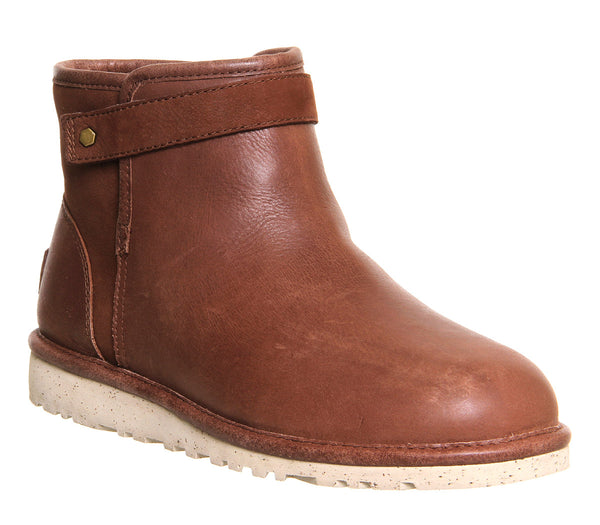 Womens Ugg Rella Boot Chocolate Leather Nubuck Uk Size 6.5