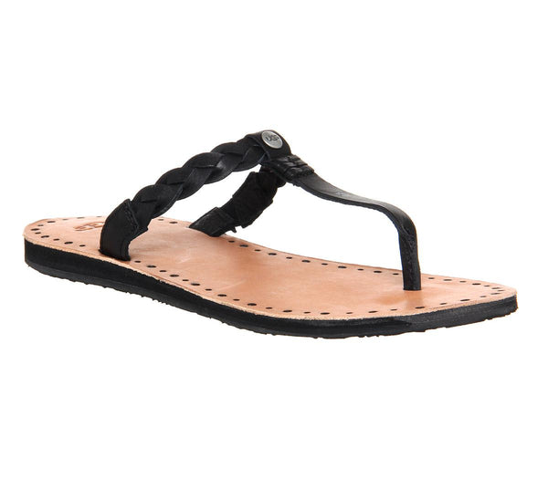 Womens Ugg Bria Sandal Black Leather