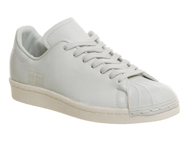 Unisex  Adidas  Superstar 80'S Clean  Crystal White  Uk Size 9