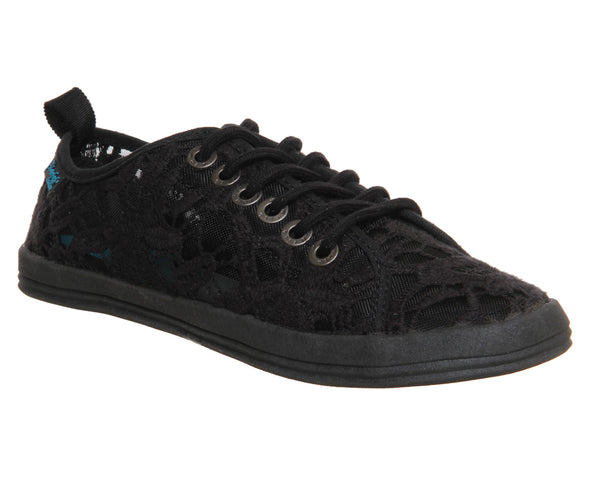 Womens Blowfish Cabala Lace Up Black Lace Canvas