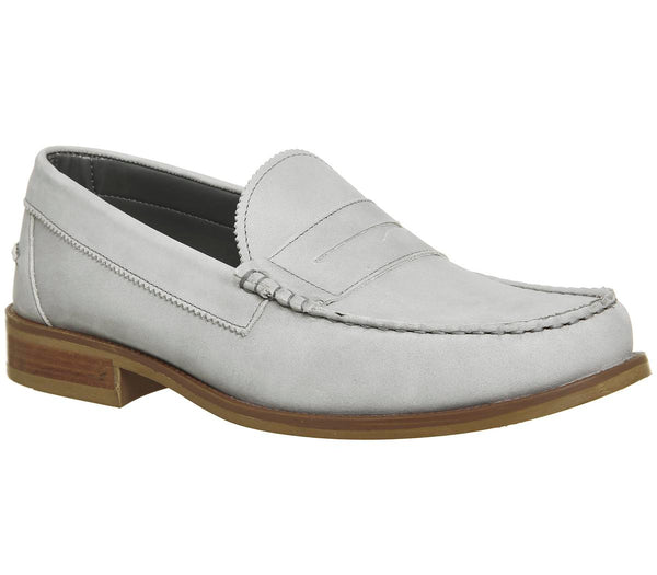 Mens Ask The Missus Bonjourno Penny Loafer Grey Nubuck