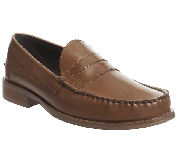 Mens Ask The Missus Bonjourno Penny Loafer Tan Leather