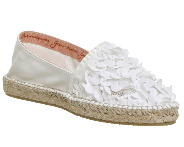 Womens Gaimo for OFFICE Alp Espadrilles Cream Floral Leather
