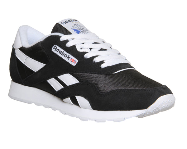 Mens Reebok Cl Nylon Black White