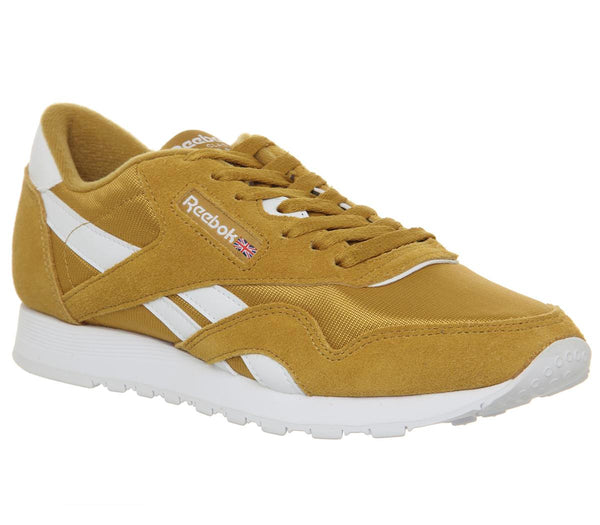 Womens Reebok Cl Nylon Wild Khaki White
