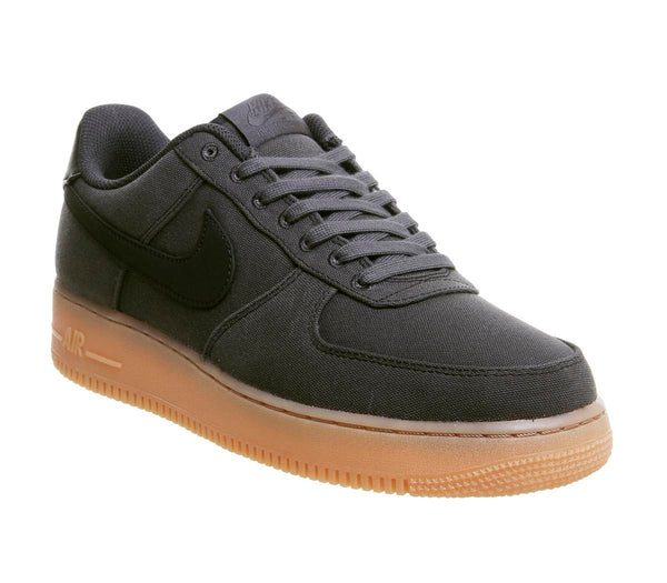 Mens Nike Air Force One (M) Black Black Gum Uk Size 8
