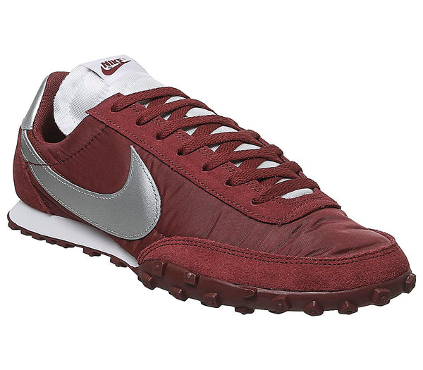 Mens Nike Waffle Racer Team Red Metallic Silver White