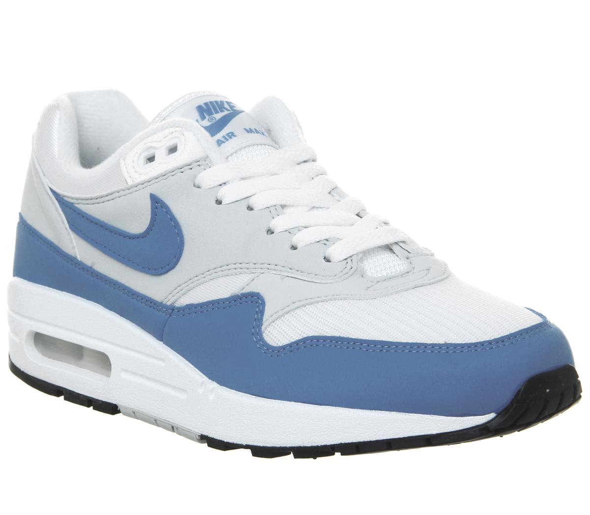 differently new collection limited guantity Womens Nike Air Max 1 White University Blue Uk Size 4