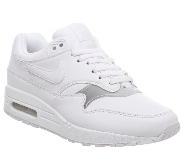 Mens Nike Air Max 1 White White White F