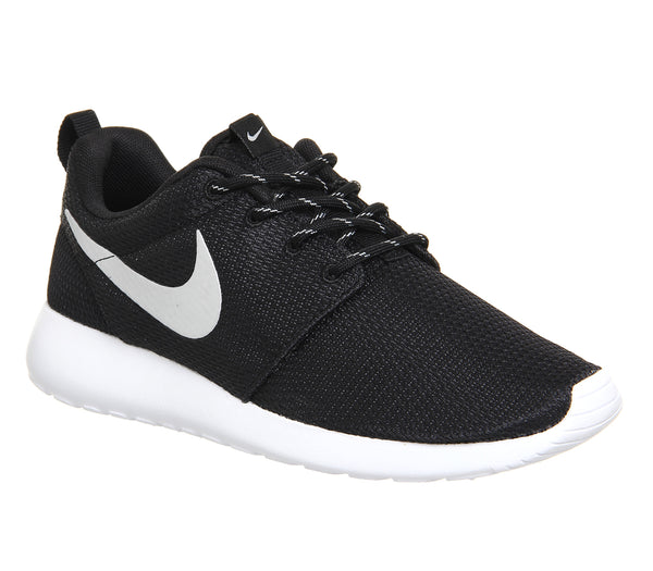 Mens Nike Roshe Run Black Metallic White
