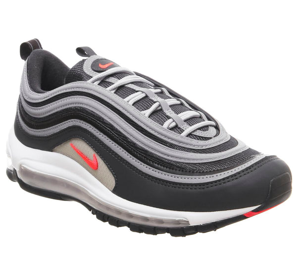 Mens Nike Air Max 97 Anthracite Flash Crimson Wolf Grey Uk Size 12