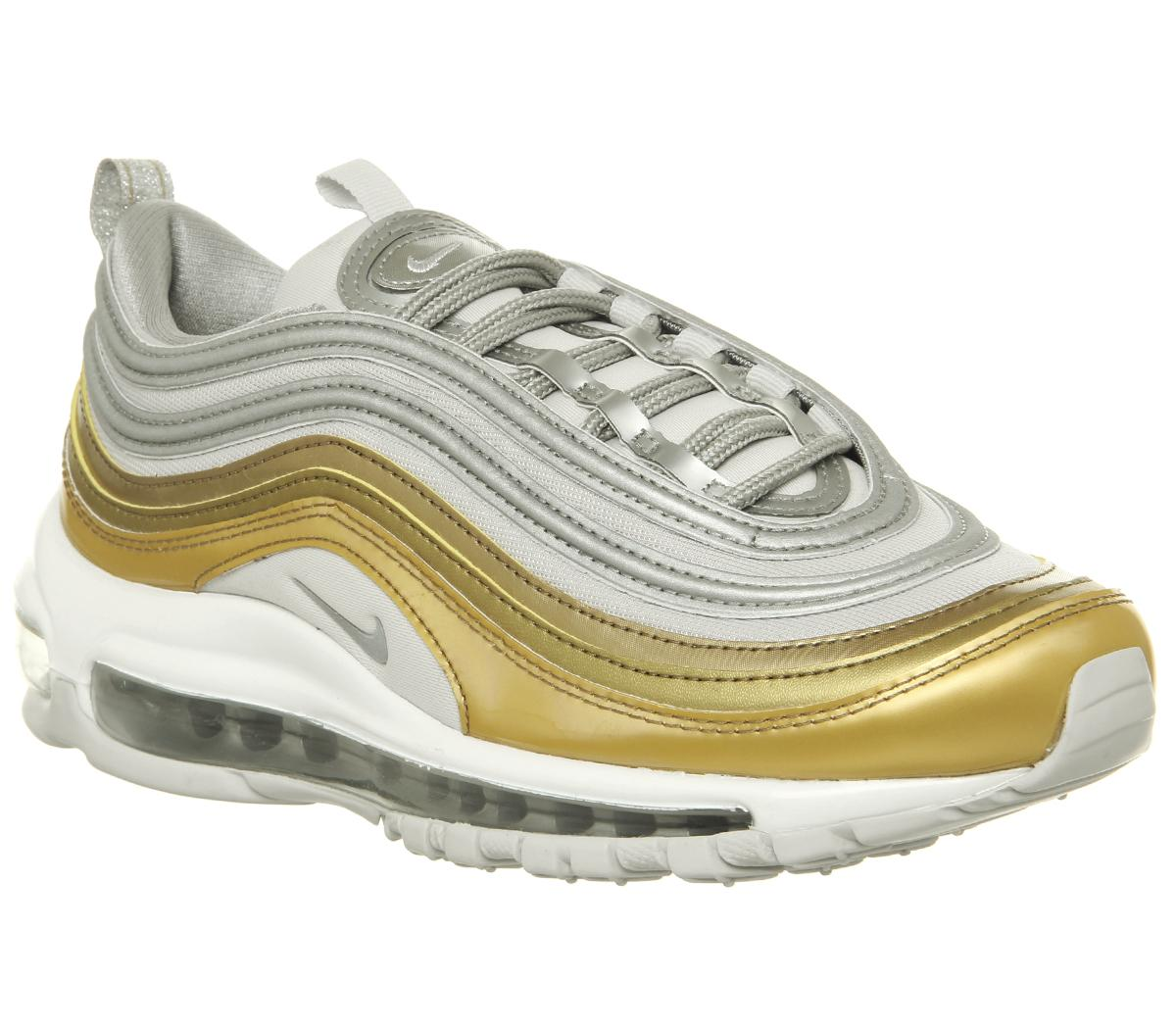 3e1c74a9a3448 Womens Nike Air Max 97 Vast Grey Mtlc Silver Gold Summit White Uk Size –  OFFCUTS SHOES by OFFICE