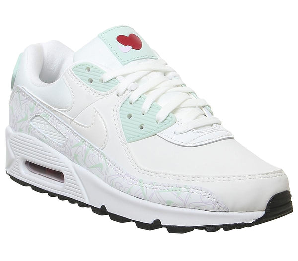 Womens Nike Air Max 90 Summit White Pistachio Frost Iced Lilac Uk Size 6