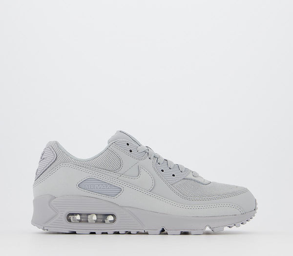 Mens Nike Air Max 90 Wolf Grey Wolf Grey Black