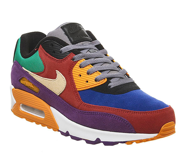 Mens Nike Air Max 90 Viotech University Red Hyper Grape Orange