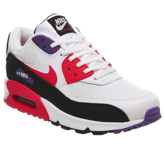 Mens Nike Air Max 90 White Red Orbit Psychic Purple Black Uk Size 8