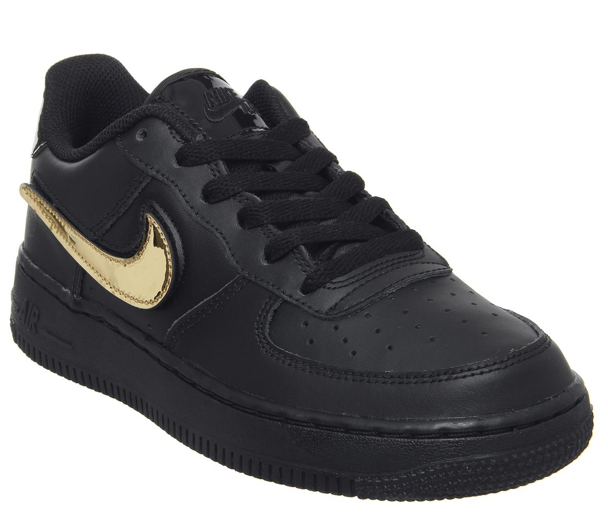 Kids Nike Af1 Boys Black Black White