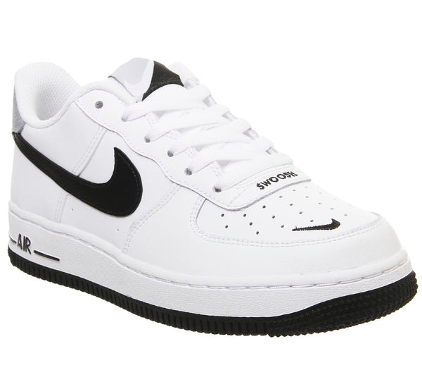 Kids Nike Af1 Boys White Black Wolf Grey