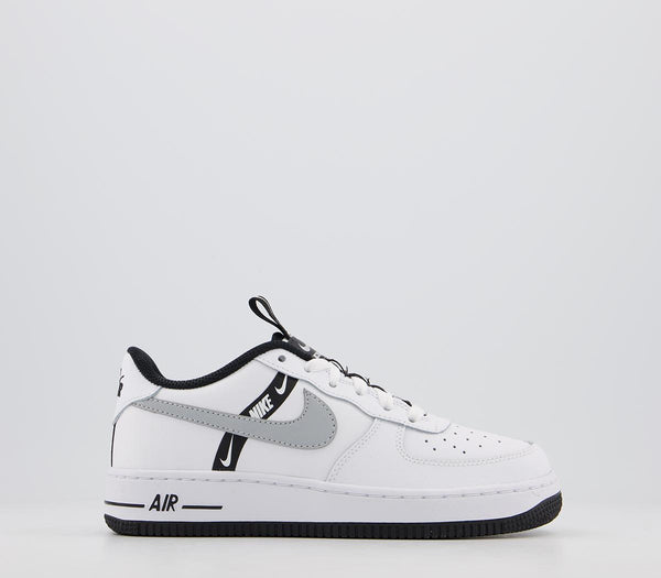 Odd sizes - Kids Nike Af1 Boys White Black Silver UK Sizes R5/L5.5