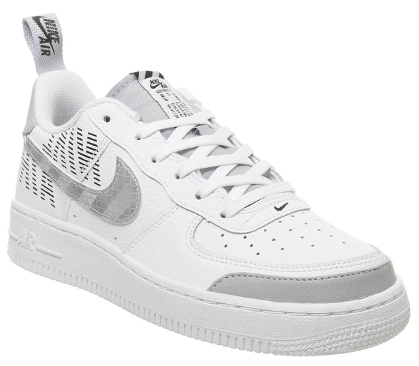 Womens Nike Af1 Boys White Wolf Grey Black
