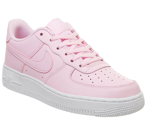 Kids Nike Af1 Boys Pink Foam White Metallic Platinum