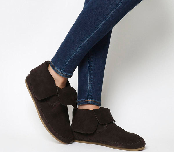 Womens Toms Zahara Bootie Chocolate Brown Suede