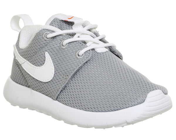Kids Nike Roshe Run Ps Wolf Grey White Safety Orange