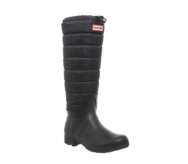 Womens Hunter Original Quilted Leg Black